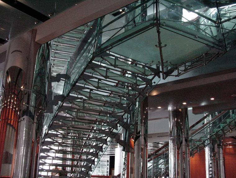 Glass-staircase