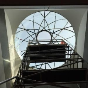 Glass-cupola-installation